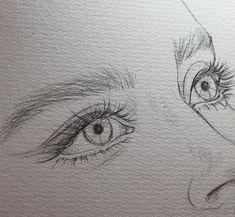 portrait drawing pencil Bleistiftzeichnung Bild entdeckt von H E A R T B E A T . Pencil Drawing Pictures, Pencil Art Drawings, Art Drawings Sketches, Pictures To Draw, Cool Drawings, Realistic Drawings, Sketches Of Eyes, Drawings Of Eyes, Tumblr Art Drawings