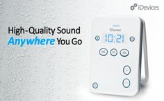 The iShower Water Resistant Wireless Speaker - Enjoy High-Quality Sound From Your Bluetooth Enabled Device