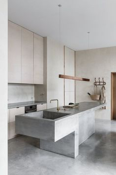 Kitchen Interior Design – Kitchen is a place for us to make favorite food. Therefore the kitchen must make us . Interior Design Minimalist, Modern Kitchen Design, Interior Design Kitchen, Interior Modern, Modern Design, Monochrome Interior, Grey Interior Design, Interior Ideas, Exterior Design