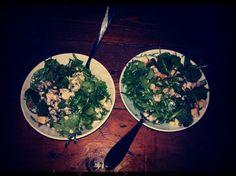 Salmon Carpaccio Salad Dinner with @Afrodite Giannakopoulou at Petrou Palace