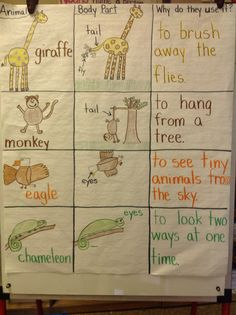 What Do You Do With a Tail Like This? By Steve Jenkins. We talked about two animals from each body part. Then students drew and wrote details about the animals. I have an ESL classroom. First Grade Lessons, First Grade Science, Primary Science, First Grade Reading, Science Biology, Teaching Science, Science Activities, Teaching Reading, Journeys Kindergarten