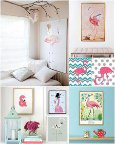 Quadros de flamingos (3)