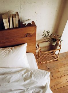 Headboard as a bookshelf!!