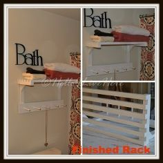 Hometalk :: Hello I Live Here's Picks for DIY Towel Racks :: Linda Crandall's clipboard on Hometalk