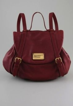 97909e6bba Marc By Marc Jacobs Classic Q Leather Backpack Purse Chianti Red