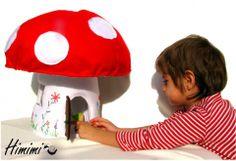 HimimiKaracsony - Óriás galóca ház manóval és levélággyal, Játék, Baba, babaház, Készségfejlesztő játék, Óriás-galóca-házaimat puha gyapjúfilcből #felt #mushroom #lodge #cottage #house Baba, House, Character, Home Decor, Decoration Home, Home, Room Decor, Home Interior Design, Homes
