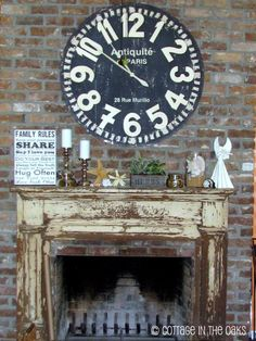 vintage fireplace surround.  Molding ideas for living room fireplace redo.