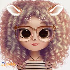 Kawaii Girl Drawings, Cute Disney Drawings, Cute Little Drawings, Cute Cartoon Drawings, Cute Girl Drawing, Cartoon Girl Drawing, Cute Animal Drawings, Cute Galaxy Wallpaper, Cute Emoji Wallpaper