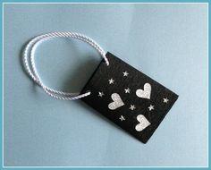 Mini-Geschenktüte schwarz von Smaragddrache auf DaWanda.com