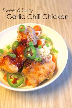 ... Garlic Chili Chicken Recipe, asian flavors at home wit chili sauce