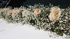 #roses #weddingcar #decoration #white #flowers #flowershop Wedding Car, White Flowers, Floral Wreath, Roses, Wreaths, Decoration, Home Decor, Decor, Floral Crown