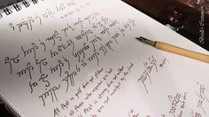 Because writing in Elvish is more fun