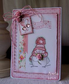 I Love You #card by Amelia #scrapbook
