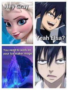 Fairy Tail Guess who got ice demon skater magic so boom you should see what he can do - Fairy Tail Gray, Fairy Tail Meme, Fairy Tail Quotes, Fairy Tail Ships, Nalu, Fairytail, Jerza, Anime Meme, Manga Anime