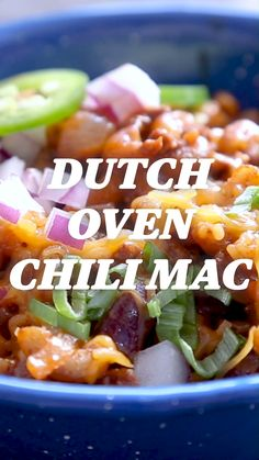 Camp Recipe: Dutch Oven Chili Mac Cheesy and filling? Spicy and hearty? This fall comfort food has got it all. Combining the best asp Backpacking Food, Camping Meals, Fall Camping Food, Kayak Camping, Ultralight Backpacking, Chili Mac And Cheese, Mac Cheese, Dutch Oven Recipes, Cooking Recipes