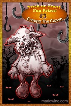 Trick or Treat Fun Prizes #3. Creepo The Clown. He's good with kids!