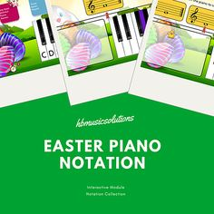 Easter Piano Notation Interactive Games (Treble Clef) Vocal Lessons, Piano Lessons, Music Class, Recital, Teacher, Treble Clef, Seasons, Young Children, Plays