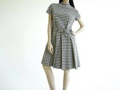 Vintage 1960s Minx Hound Stooth Mod Dress by BoroughVintage, $148.00