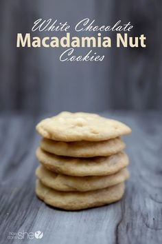 Macadamia nut cookies, White chocolate and Cookies on Pinterest