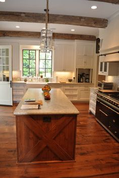 Rustic Decor White Wash Rustic Kitchen Island Design Ideas Pictures