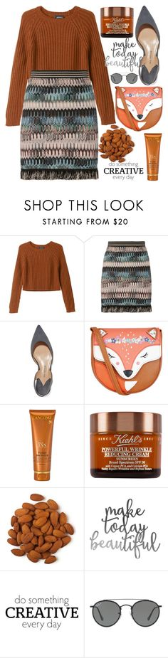 """245"" by erohina-d ❤ liked on Polyvore featuring Monki, Missoni, Paul Andrew, Monsoon, Lancôme, WALL and Ray-Ban"