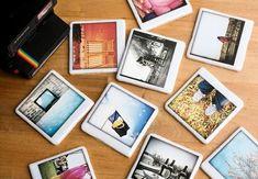 Polaroid Coasters -- mod-podge photos to white tiles
