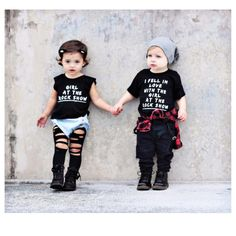 """Little Wonderland Clothing on Instagram: """"I fell in love with the girl at the rock show She said, """"What?"""" and I told her that I didn't know... Love this!!! How cute is @gemmilulu + @whatloganwears  <tap for deets> #love #fashion #fashionista #kidsfashion #girl #streetwear #boy #hipkidfashion #trendy #style #igkiddies #stylish #stylishkids #rad #boss #love #ootd #blink182 #love #fleece #chic #epic #girlattherockshow #rocknroll #littlewonderlandclothing"""""""
