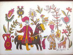 Elen Art: ΛΑΙΚΗ ΤΕΧΝΗ Crete, Folk Art, Rooster, Moose Art, Textiles, Embroidery, Blog, Animals, Greek Life