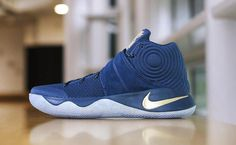 best service 04cb1 57d35 Nike Kyrie 2 Blue Velvet Finals PE is the shoe Kyrie Irving wore for Game 2  of the 2016 NBA Finals. This Nike Kyrie 2 Finals PE is dressed in Navy and  Gold.