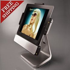 Rotating iPad Dock with Speakers