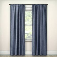 Turn day to night with the Lightblocking Curtain Panel from Room Essentials. This blackout curtain comes in an easy-to-match solid and has a rod pocket for easy hanging.