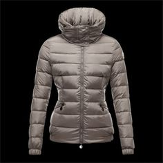 Moncler Sanglier Popular Zip Collar Jackets Womens Down Silver Gray 7418fa24496