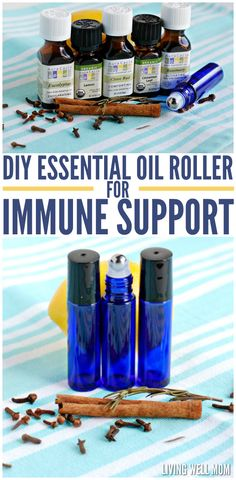 DIY Essential Oil Roller for Immune Support - an effective all-natural way to stay healthy or recover more quickly from illness: an easy-to-make essential oil blend that can help strengthen your immune system!