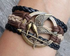 Charm Bracele Mockingjay Bracelet Hunger Games Bracelet by 2style, $4.99- I might just DIY one