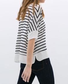 Image 2 of COMBINED HEM T-SHIRT from Zara