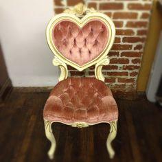 blush sweetheart chair @Something Borrowed Portland