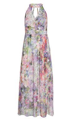 City Chic - FLORAL BURST MAXI DRESS - Women's Plus Size Fashion