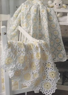 Lovely Baby Afghan Crochet Patterns Cradle by PaperButtercup