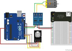 L9110S Rotary Encoder Motor Schematic