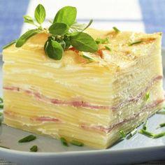 Budinca de cartofi cu sunca Romanian Food, Puddings, Vanilla Cake, Cabbage, Vegetables, Eat, Desserts, Recipes, Tailgate Desserts