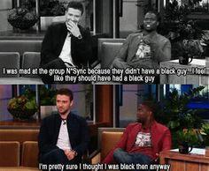 ... Justin Timberlake and Kevin Hart ....