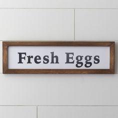 Wayfair Farmhouse Fresh Eggs Wall Decor