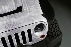 "2013 jeep wrangler kryptek yetti vinyl wrap by ""Rapid Wraps"""