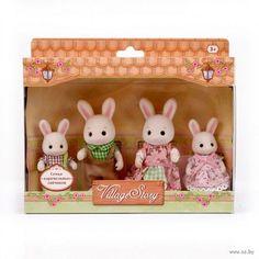 """Игровой набор """"Семья карамельных кроликов"""" (4 фигурки)"""