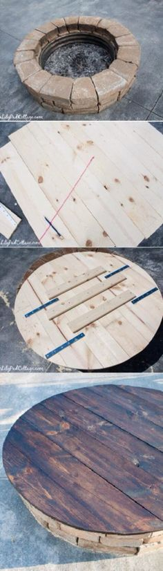 Fire pit table! シ Fire Pit Table, Tiny House, Garden, Pretty, Projects, Diy, Outdoor, Inspiration, Furniture