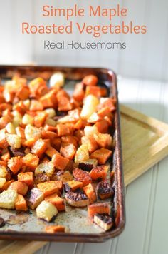 These root vegetables are roasted with maple syrup to bring out their delicious flavors!