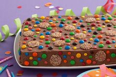 Chocolate celebration slab cake