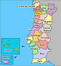 Distritos De Portugal Estudo Do Meio