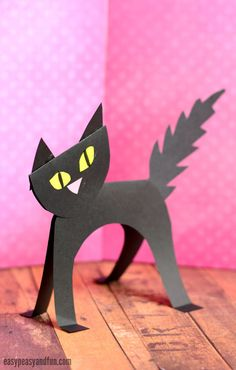 fall kids crafts cat - Fall Crafts For Kids Animal Crafts For Kids, Halloween Crafts For Kids, Craft Projects For Kids, Paper Crafts For Kids, Crafts For Kids To Make, Arts And Crafts Projects, Toddler Crafts, Easy Crafts, Craft Ideas