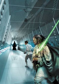 Jedi Knights, Qui-Gon Jinn and Obi-Wan Kenobi try rescuing Tahl from the clutches of Balog.